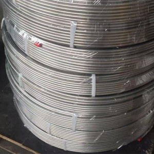 ASTM A269 alloy2205 stainless steel coiled tubing
